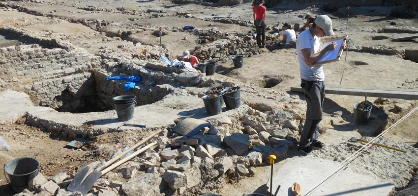 Chantier de fouilles de la domus